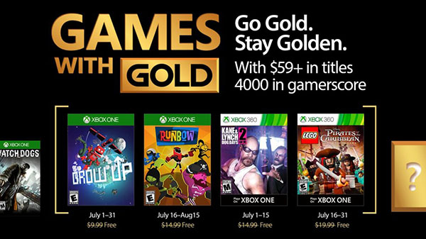 Games With Gold Luglio 2017